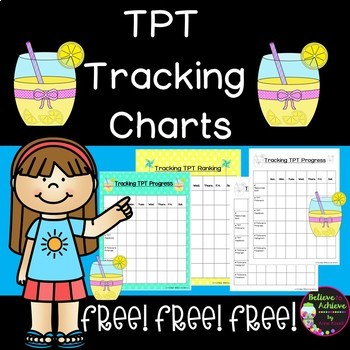 TPT Tracking Charts- FREE