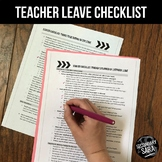FREE Checklist for Teachers: Prepping for Planned Absences or Parent Leave