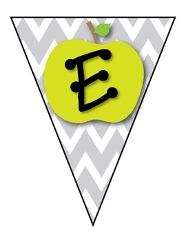 *FREE* Chevron & Apples Welcome Banner