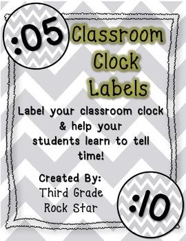*FREE* Chevron Clock Labels {2 sizes}