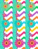 FREE Chevron Flower Themed Bulletin Board Border and Poster