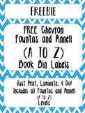 FREE Chevron Library Book Bin Labels