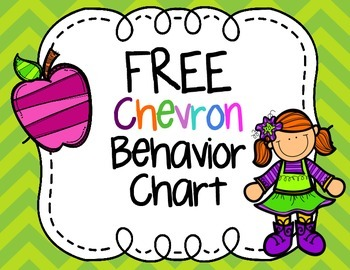 FREE Chevron Print Behavior Clip Chart