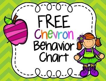 FREE Chevron Print Behavior Clip Chart