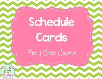 FREE Chevron Schedule Cards