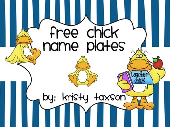 FREE Chick Name Plates