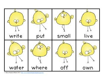 FREE Chick Sight Word Race