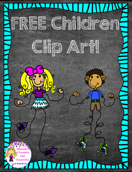 FREE Children Clip Art! {Spoonful of Confetti and Creativity Clip Art}