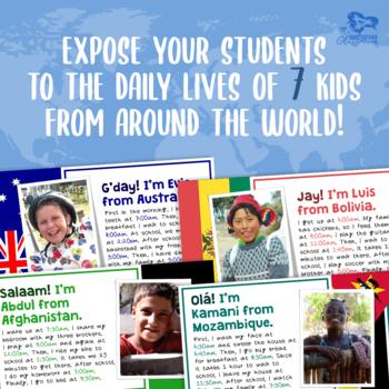 FREE Children's Daily Schedules Around the World - Presentation & Handout