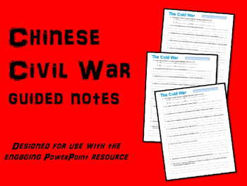 FREE Chinese Civil War and Communist Revolution guided notes (Cold War Series)