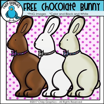 FREE Chocolate Easter Bunny Clip Art Set - Chirp Graphics