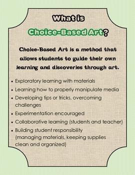 FREE: Choice-Based Art/Teaching for Artistic Behavior Info