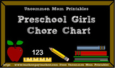 Chore Chart for Preschool Girls