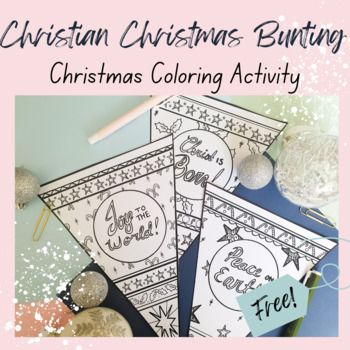FREE Christian Christmas Bunting Coloring Activity