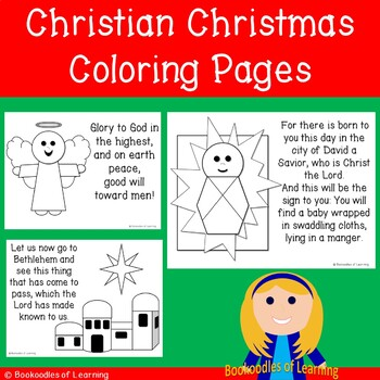 Free Christian Christmas Coloring Pages Angel Bethlehem And Baby Jesus