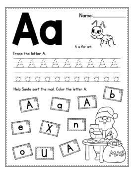 FREE Christmas Activities For Kindergarten (Math & Literacy No Prep)