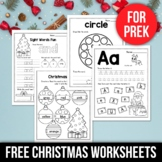 FREE Christmas Math Activities Preschool December Morning Work Kindergarten