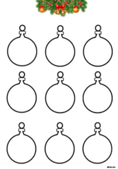 FREE Christmas Bauble Templates!