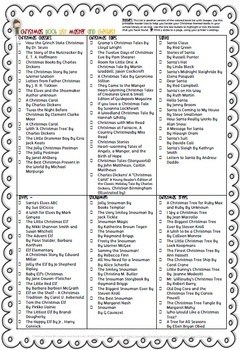 FREE Christmas Book Lists for Teachers and Parents - Text List 10 pages