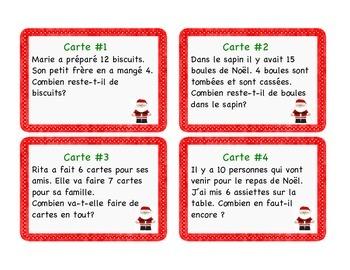 FREE Christmas - Cartes à tâches : résolution de problèmes Noël