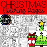 Christmas Coloring Pages (+writing papers) {Holiday Coloring Pages}
