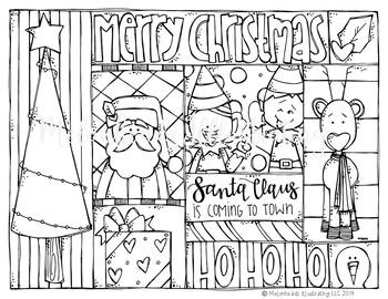 FREE Christmas Coloring Page - Santa - by Melonheadz