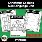 FREE Christmas Cookies Mini Language Unit for PreK Speech Therapy