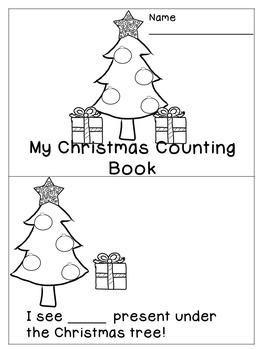 FREE Christmas Counting Emergent Reader Activity