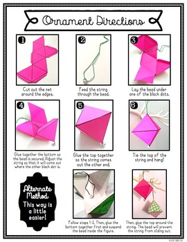 {FREE!} Christmas Craft for Big Kids: Octahedron Ornaments