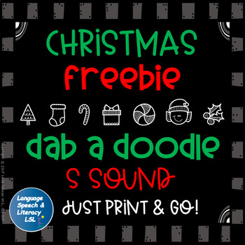 FREE Christmas Dab A Doodle for Articulation of the S Sound Speech Therapy