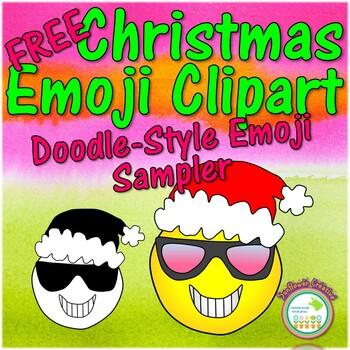 FREE Christmas Emoji Clip Art