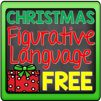 FREE Christmas Figurative Language: Writing and Drawing Activity