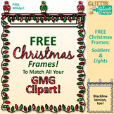 Christmas Frames Clip Art Soldiers & Lights | Free Page Border for Worksheets
