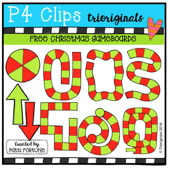 FREE Christmas Game Boards (P4 Clips Trioriginals Digital Clip Art)