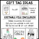 FREE Christmas Gift Tags - Students and Faculty