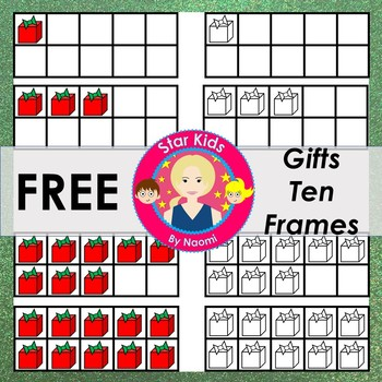 Christmas Ten Frames Clipart - FREE {Commercial Use OK}