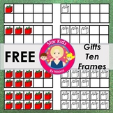 Christmas Ten Frames Clipart - FREE {Commercial Use OK}
