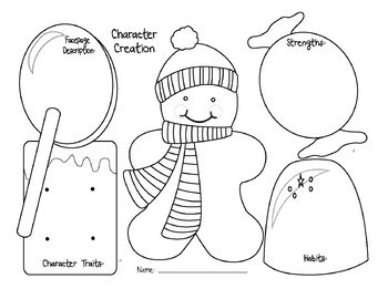 FREE Gingerbread Friends Graphic Organizers