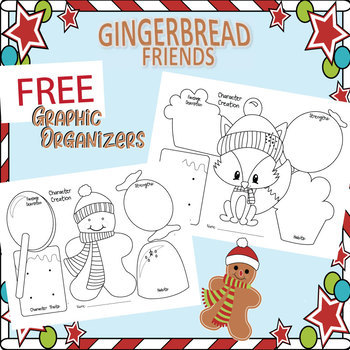FREE Christmas Gingerbread Friends Graphic Organizers