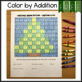 FREE Christmas Hidden Picture - Color by Addition Problem