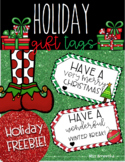 FREE Christmas/Holiday Gift Tags - Students & Faculty