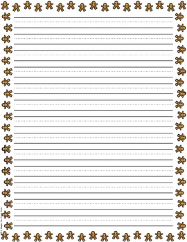 FREE Christmas Holiday Themed Writing Papers  Lined Paper To Write On