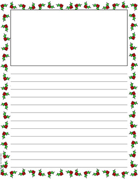 FREE Christmas Holiday Themed Writing Papers