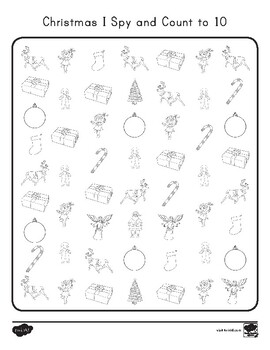 FREE Christmas I Spy and Count to 10 Activity