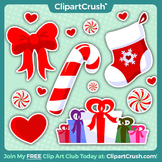 Royalty Free Christmas Icon Clipart Set!