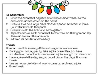 Christmas Puns For Kids.Free Christmas Joke Tree