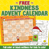 FREE Christmas Kindness Advent Calendar - Printable for Children - US Letter