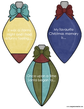 FREE Christmas Literacy Baubles