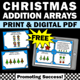 FREE 1st 2nd Grade Christmas Math Activities Arrays Task Cards Digital Printable