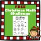 FREE Christmas Math Challenge
